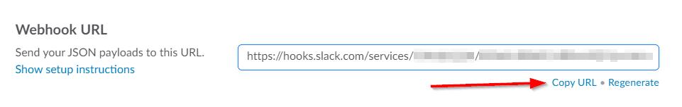 Slack - Incoming Webhooks - Webhook URL