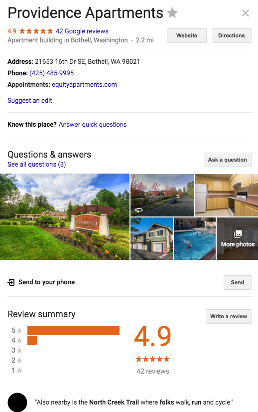 Google Apartment Review
