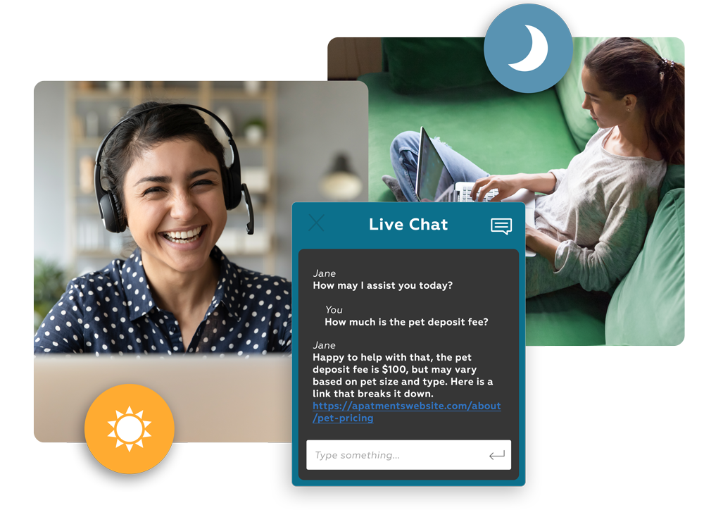 live chat for apartments