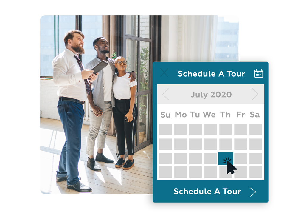 online tour scheduling tool for apartments