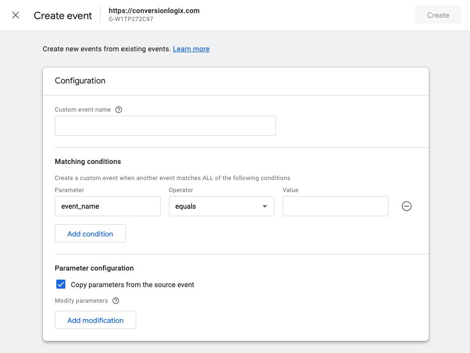 how to create custom events in ga4